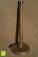 Erfahrungsbericht: Lumaland Cuisine Küchenrollenhalter aus Bambus mit Edelstahl Spitze, Ø ca. 14 cm x 32 cm