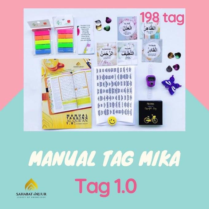 Manual 198 Set Kit Tagging Quran - Panduan Disediakan