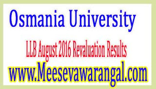 Osmania University LLB August 2016 Revaluation Results
