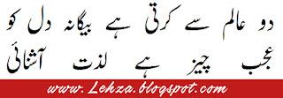 Do Alam Se Karti Hai Baigana Dil Ko Ajab Cheez Hai Lazzat-e-Ashnayi