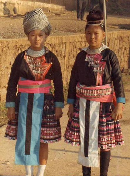 Hmong girls in Laos, 1973