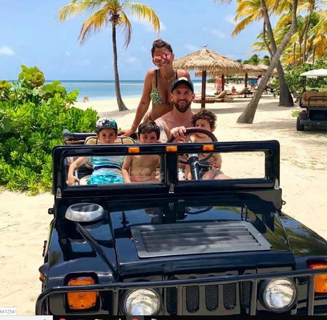 vacaciones messi cristiano ronaldo georgina rodriguez antonella