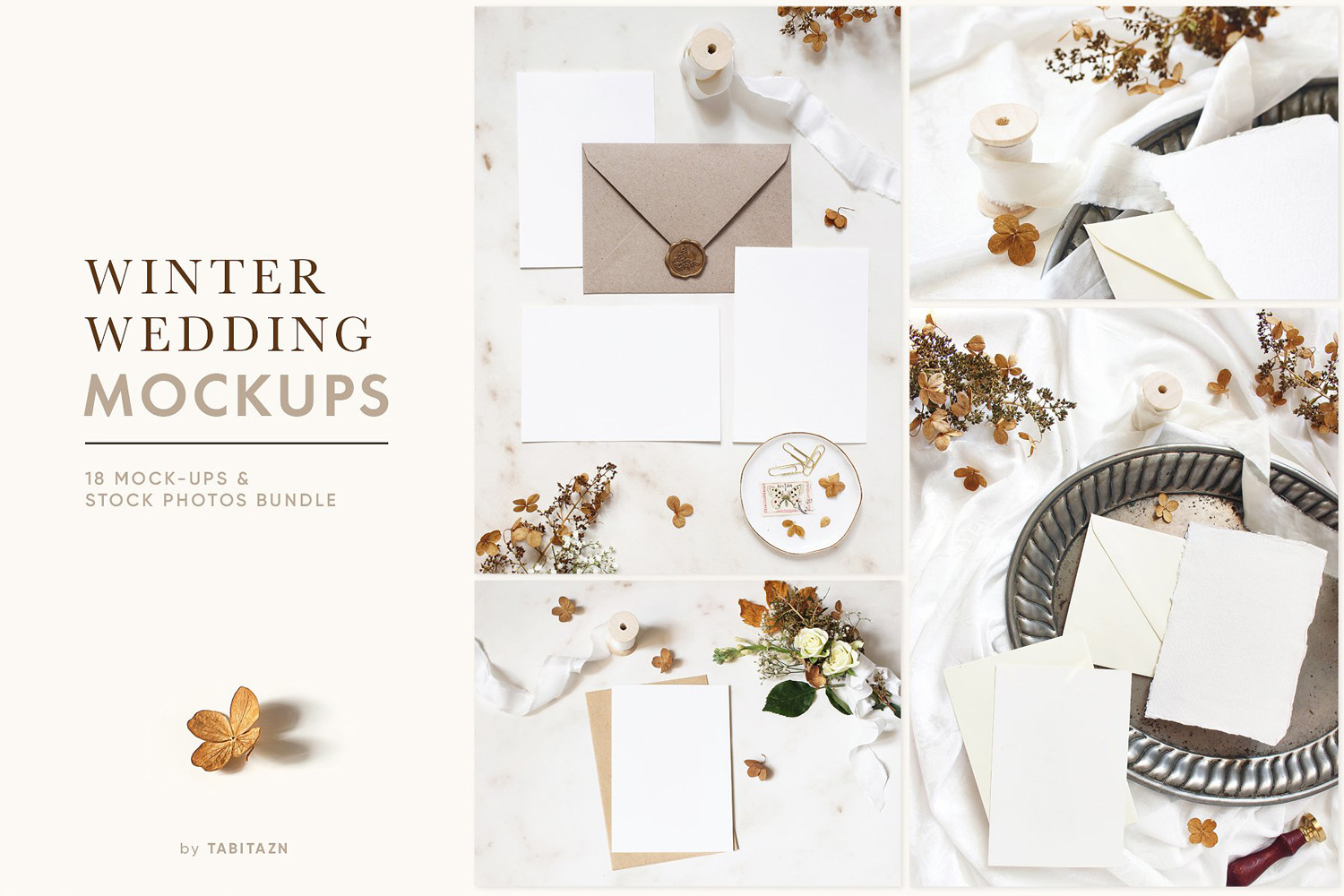 Winter Wedding Photo Mockups