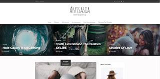 anastasia blogger template 2018