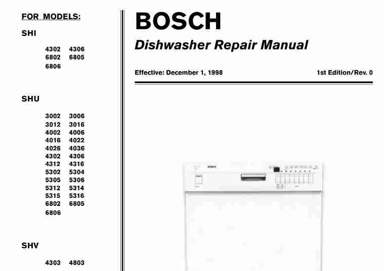 bosch shi shu shv dishwasher service manual download service manual rh servicemanualguidepdf blogspot com bosch dishwasher repair manual sms bosch dishwasher repair manual download