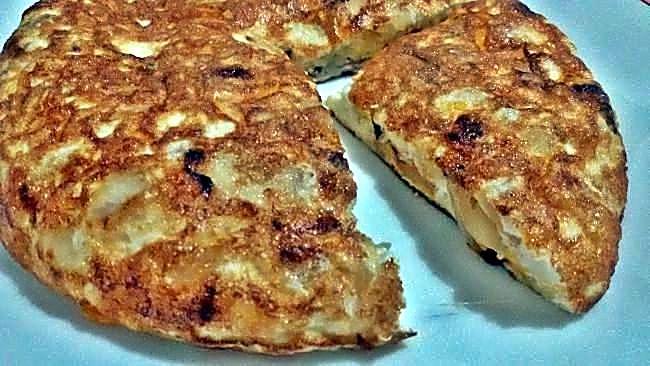 Tortilla de claras con queso