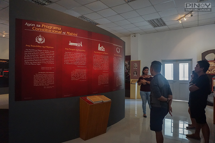 Inside Mabini Shrine's museum