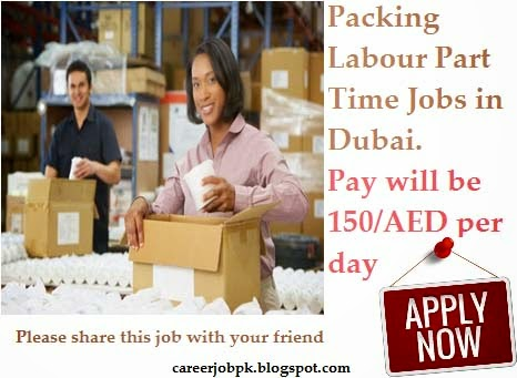 Packing Labour Part Time Jobs Dubai