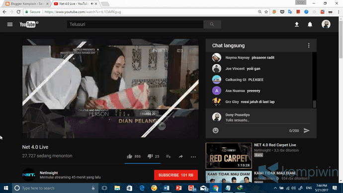 youtube ubah dark theme