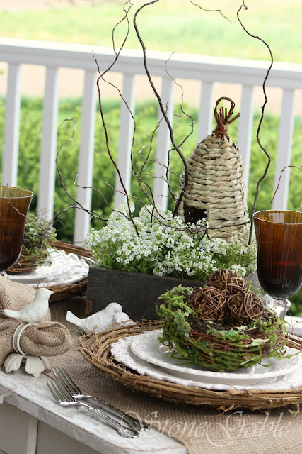 Stonegable Spring Nesting Tablescape And Gwahm Giveaway