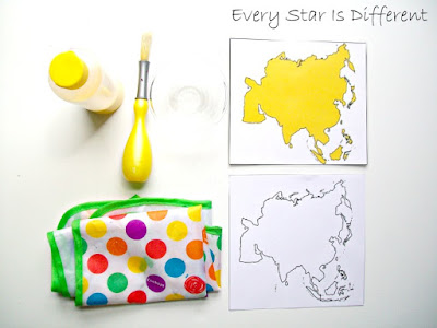 Montessori-inspired Asia Painting Activity with Free Printable