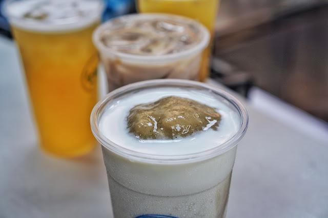 台南飲料【台南幫 中華店】綠豆沙牛奶