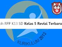 Contoh RPP K13 SD Kelas 5 Revisi Terbaru