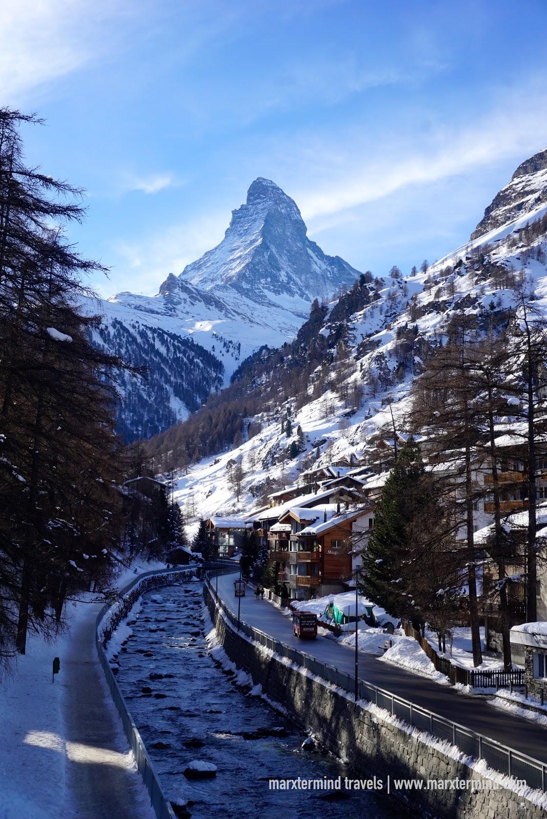 View of Matterhorn in Zermatt