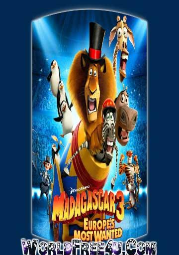 Poster Of Madagascar 3 (2012) Full English Movie Watch Online Free Download At worldfree4u.com