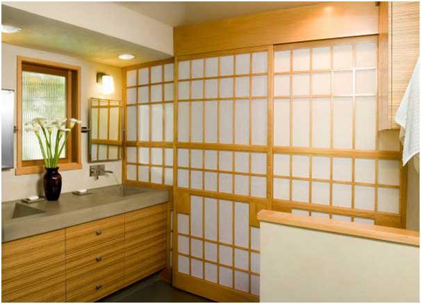 Schön Bild Badezimmer Japanisch Gestalten Mit Traditionellen Shoji Bildschirmen