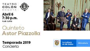 Concierto QUINTETO ASTO PIAZZOLLA en Bogotá 2019