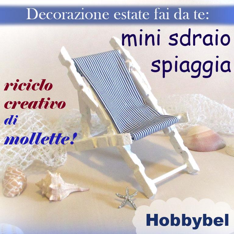 """MINI SDRAIO, DECORAZIONE """"MARE"""" CON RICICLO CREATIVO DI MOLLETTE, tutorial  HOBBYBEL creatività"""