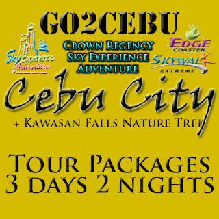 Cebu City + Crown Regency Sky Experience Adventure + Kawasan Falls Nature Trek in Cebu Tour Itinerary 3 Days 2 Nights Package