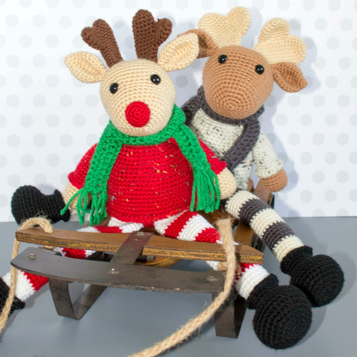 Free Crochet Moose and Crochet Reindeer Pattern - thefriendlyredfox.com