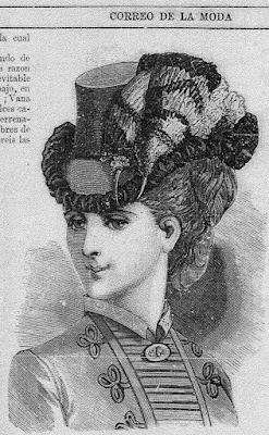 Ilustración publicada en El Correo de la Moda (10-1-1883)