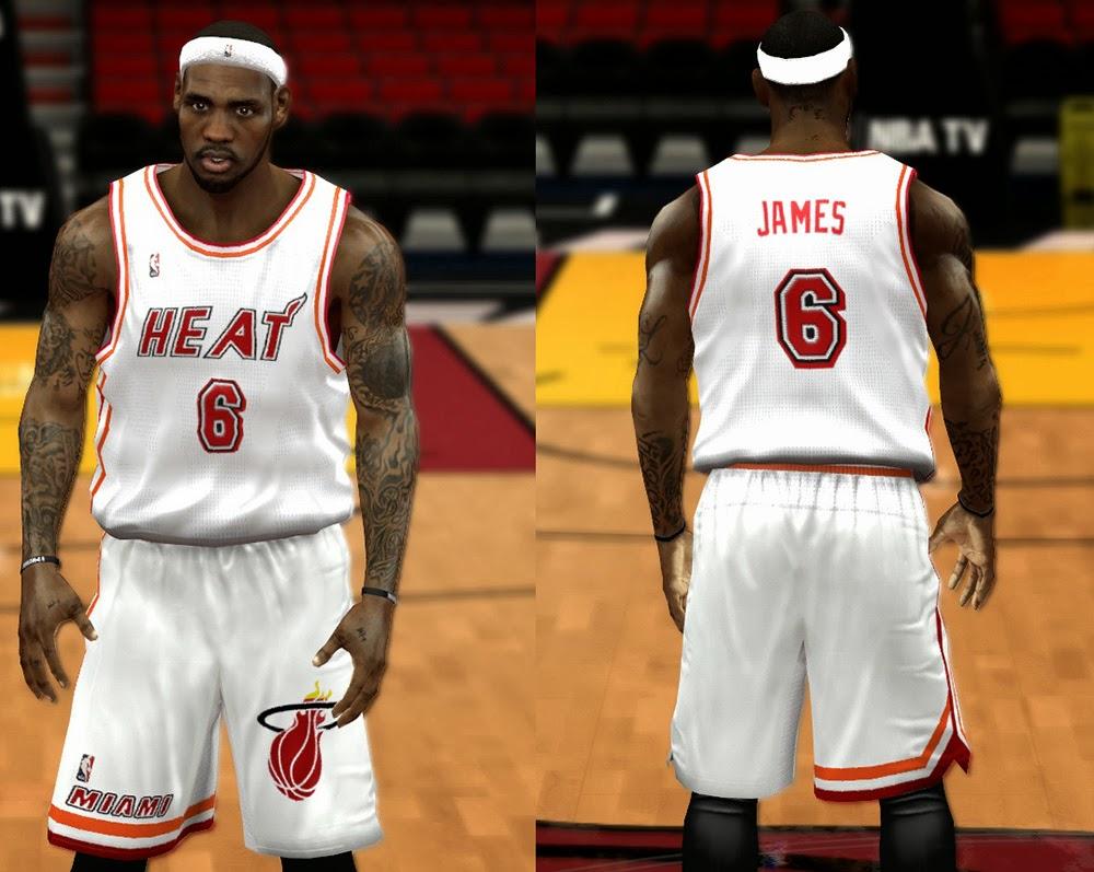 big sale 4bcb2 66298 NBA 2K14 Complete Miami Heat Jersey Patch (Updated) - NBA2K.ORG