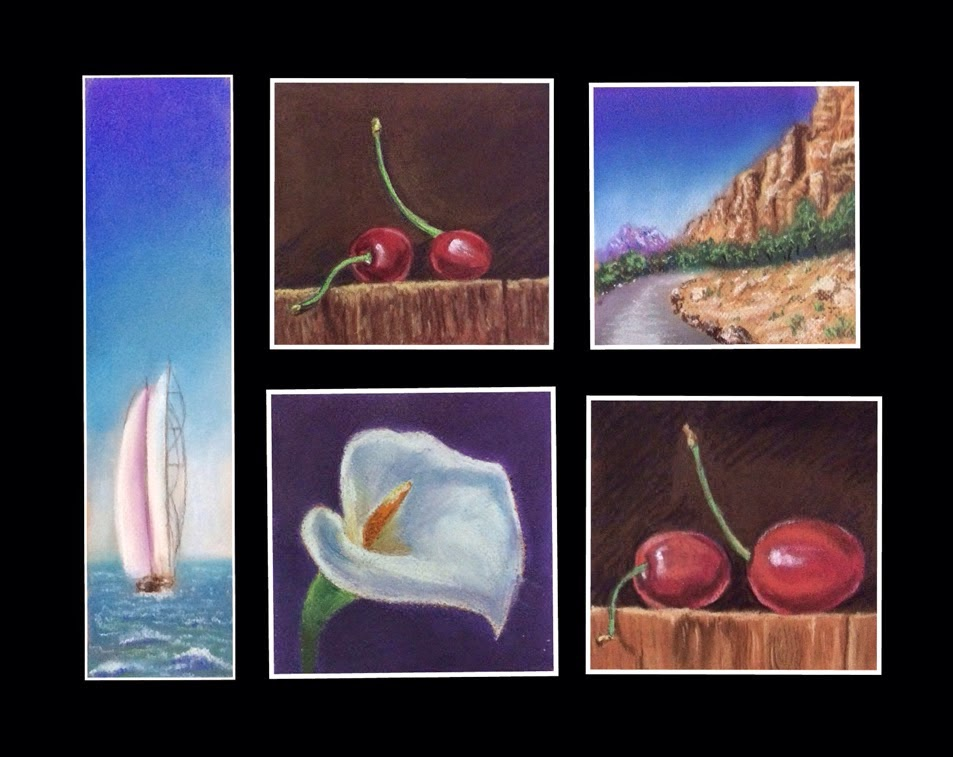 paintings done during soft pastel painting workshop by Manju Panchal