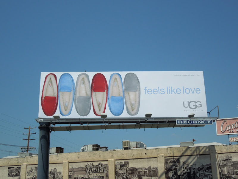 UGG moccasin billboard