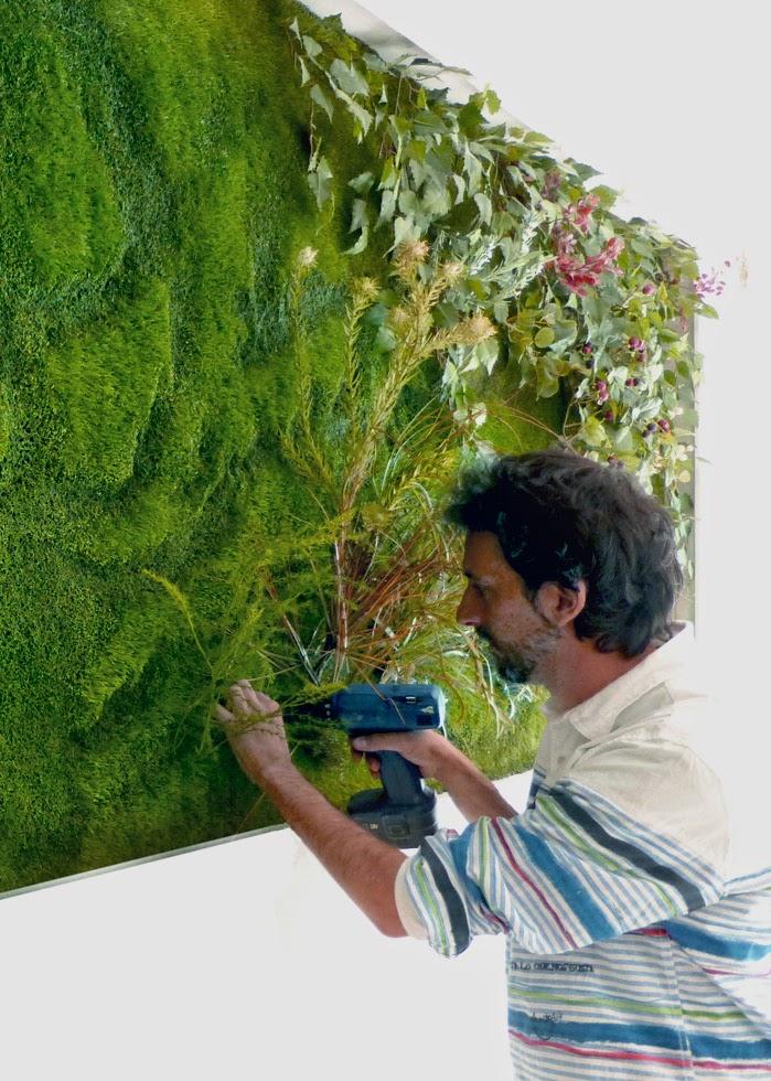 Cuaderno de campo y taller jard n vertical artificial for Imagenes de jardin vertical