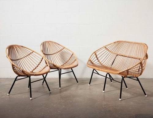 Rattan Furniture From The 50s