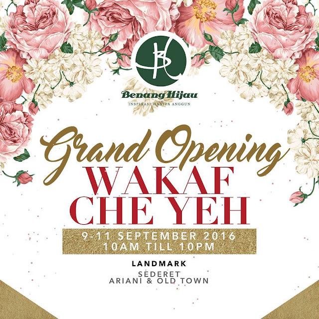 Grand Opening Butik Benang Hijau Wakaf Che Yeh
