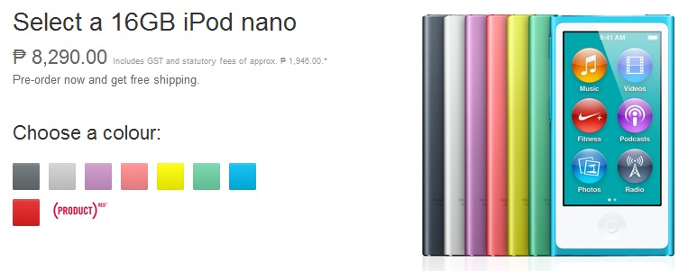 7th-Gen iPod Nano