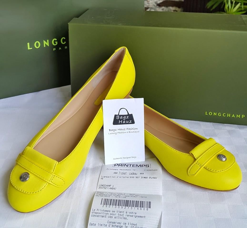 cdb36d197494 LONGCHAMP Leather Ballerinas - Color  Yellow (size 37) ~ For Maryah ~