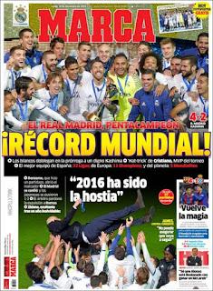 portada Marca real madrid campeón Mundial de clubes