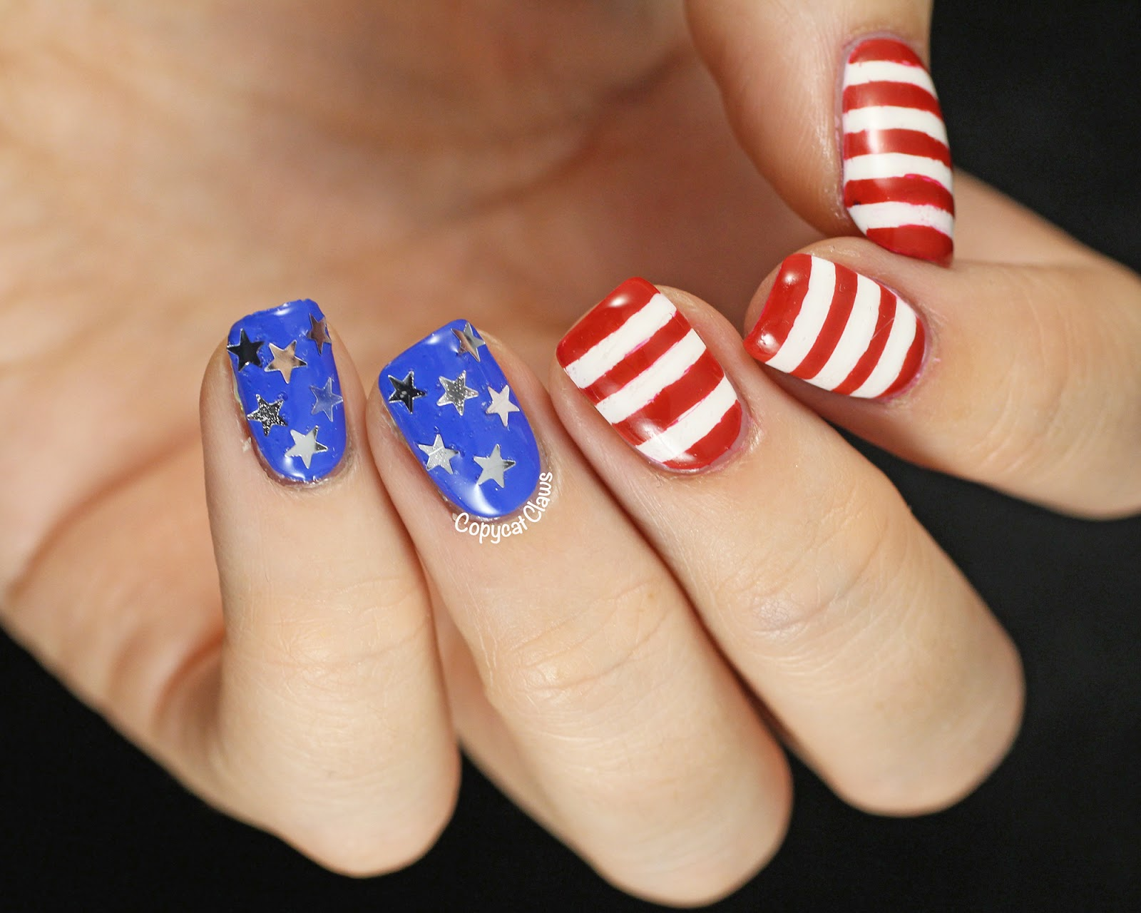 Copycat Claws: Fourth of July Nails