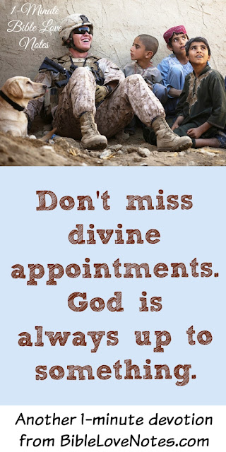 Divine Appointments, Letting God interrupt our schedule