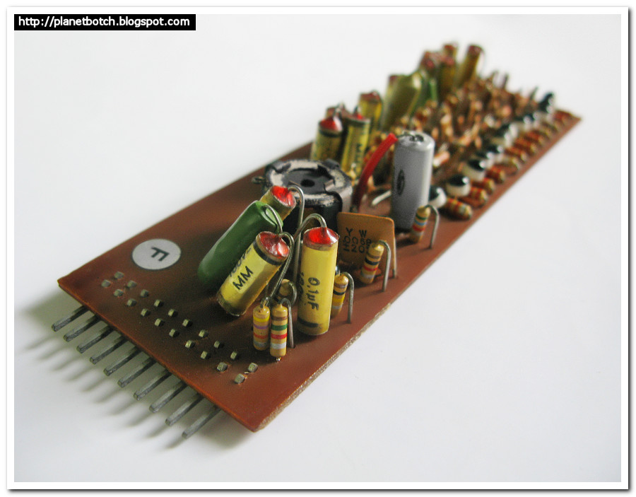 Vox Continental Super II internal note circuit board