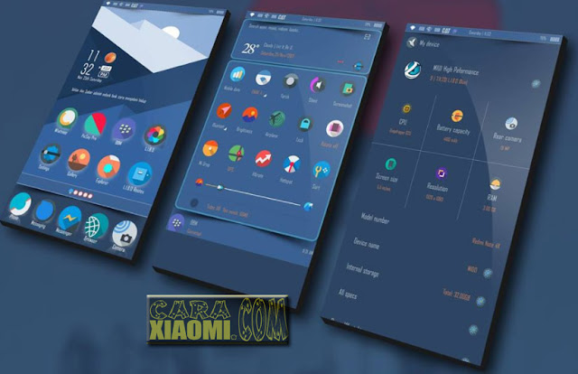 Download Tema MIUI Xiaomi LIBO Blue Themes Terbaru by Sokhael Khan