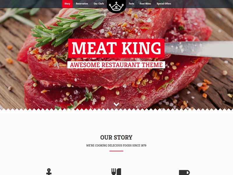 Freedownloadtemplates bootstrap restaurant template meatking bootstrap restaurant website designg maxwellsz