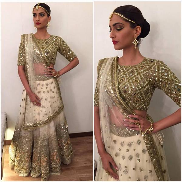Sonam in Mirror Work Lehenga