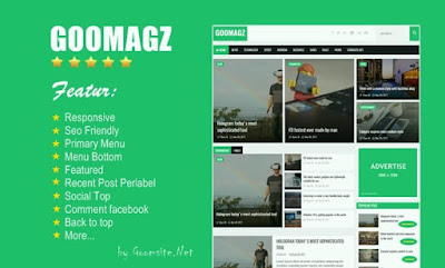Goomagz Responsive Blogger Template