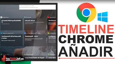como añadir navegadores al timeline de windows 10