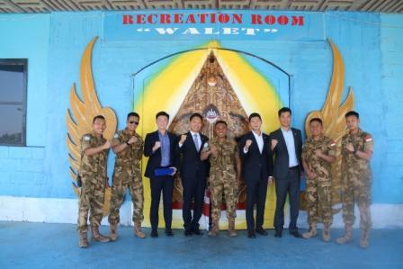 Dansatgas Indobatt XXIII-L Terima Kunjungan Delegasi Korea Battalion