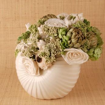 d coration florale avec coquillages id e d co. Black Bedroom Furniture Sets. Home Design Ideas