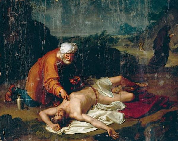 The Good Samaritan by Pietro Benvenuti , Macabre Art, Macabre Paintings, Horror Paintings, Freak Art, Freak Paintings, Horror Picture, Terror Pictures