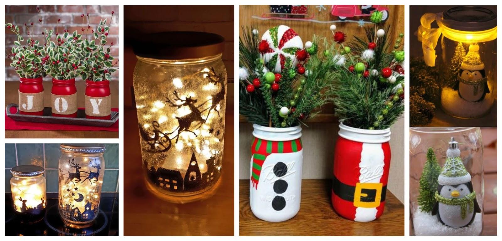 Como Decorar Frascos De Vidrio Para Navidad Paso A Paso