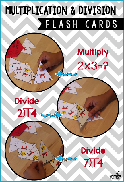 Increase Math Fact Fluency with Multiplication and Division Flash Cards • 1-10 Triangle Flash Cards - color • 1-10 Triangle Flash Cards – B&W • 4 Anchor Posters • Partner Quiz Interactive Activity • Recording Sheets • Karate Belt Student Tracking Poster • Teacher Tips & Suggestions • Letter to Parents to encourage study at home • Common Core Standards