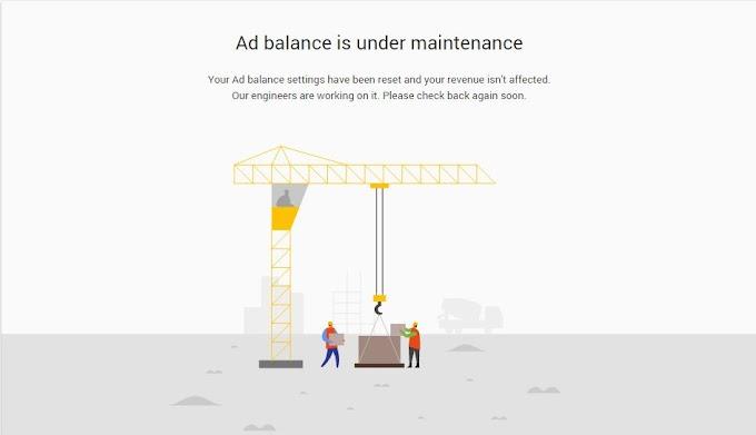 Ad balance is under maintenance