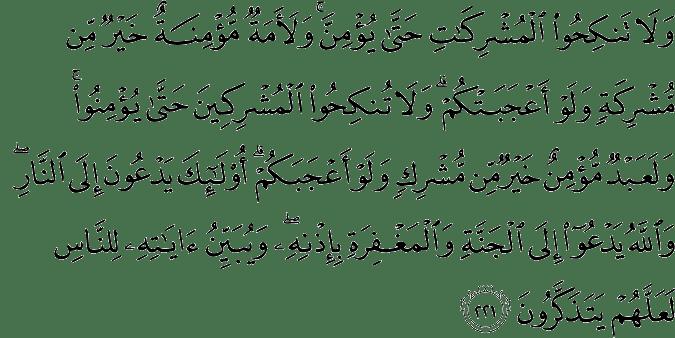 Surat Al-Baqarah Ayat 221