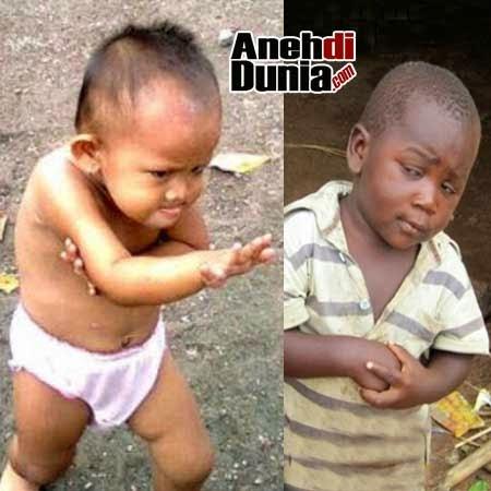 foto ekspresi lucu anak kecil